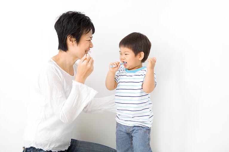 乳歯のブラッシング方法